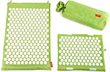Spoonk Organic Hemp 2PC COMBO - 1 Large Size (in bag) + 1 Head Rest Acupressure Massage Mat/ Eco Foam -Made in USA (Lilac Green)