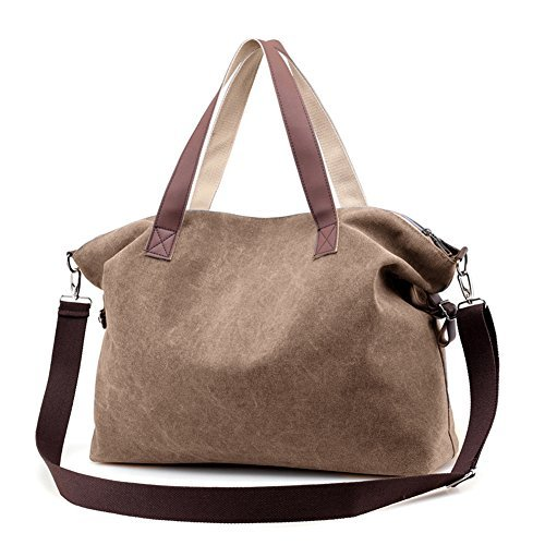 Women's Handbags,LOSMILE Shoulder Bags Top Handle Beach Tote Purse Crossbody Bag (Brown)