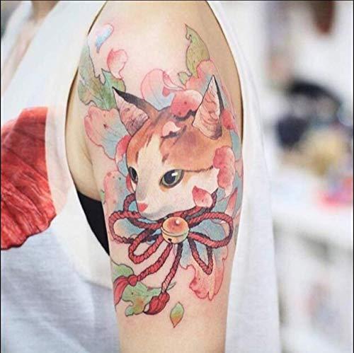 ruofengpuzi Adesivo tatuaggioJaponés Y Japonés Ukiyoe Cat Flower ...