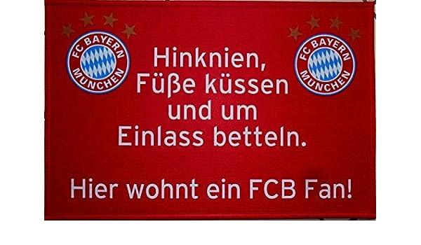 FC Bayern München - Felpudo Pies Küssen con Bayern de Button ...