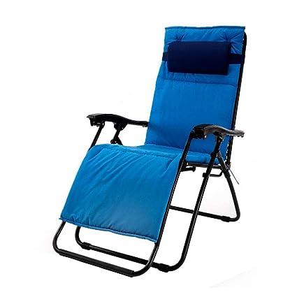 Silla reclinable Plegable Sillas de terraza Tumbonas de jardín Tumbonas Relajante de Gravedad Cero con reposacabezas