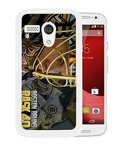 Best Buy Design Boston Bruins Rask White Special Custom Made Motorola Moto G Cover Case