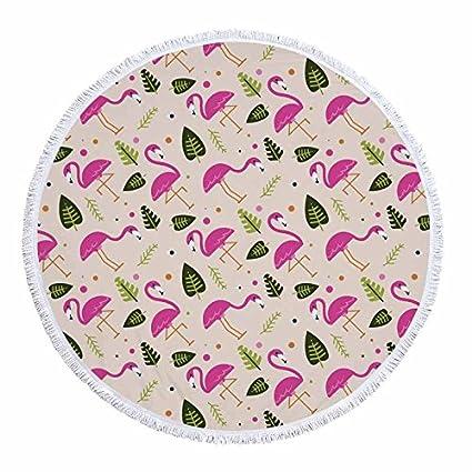 GSYAZTT Toallas Redondas Flamingo Playa para Servilletas Adultos La Plaga Toalla Playa Toallas Playa Micro Fibra