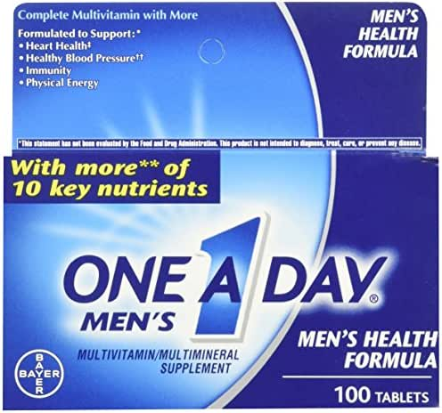 One A Day Mens 100ct Size 100ct One A Day Men's Multivitamin Multimineral Supplement Tablets 100 Count