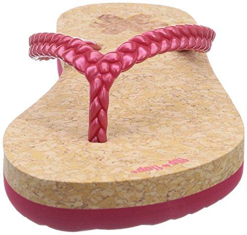 multicolor material Sandalias red sintético 613 mujer rose flop para slim layer de Mehrfarbig cork flip IvAwYYq