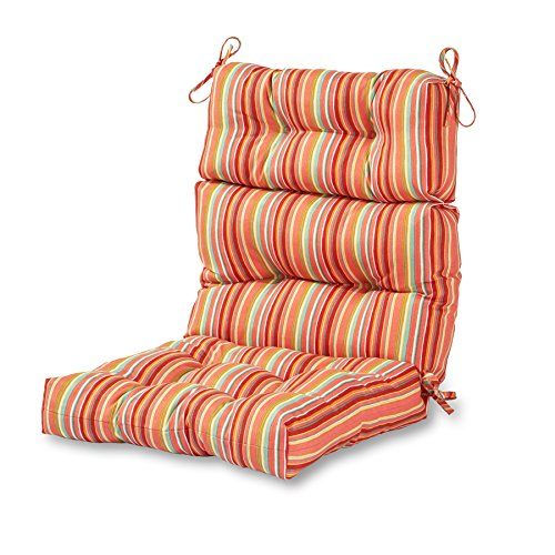 (Greendale Home Fashions Outdoor High Back Chair Cushion, Watermelon)