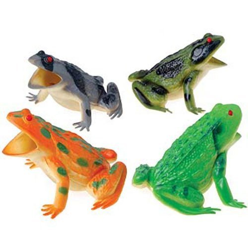 Assorted Color Large Squeaking Frogs (12)