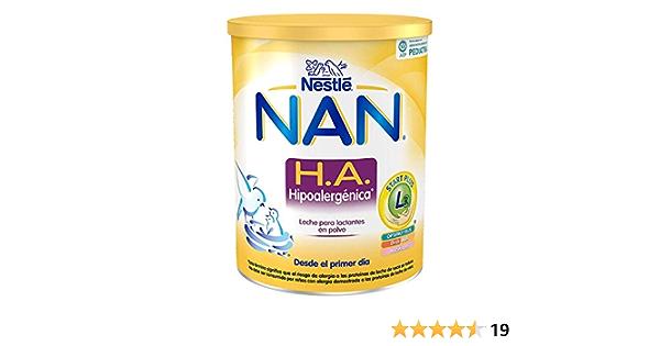 Nestlé Alimentos Infantiles NAN HA Hipoalergénica - Leche para lactantes en polvo - Fórmula para bebé - Desde el primer día - 800g, blanco