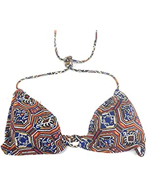 Jessica Simpson Triangle Bikini Top Printed Large