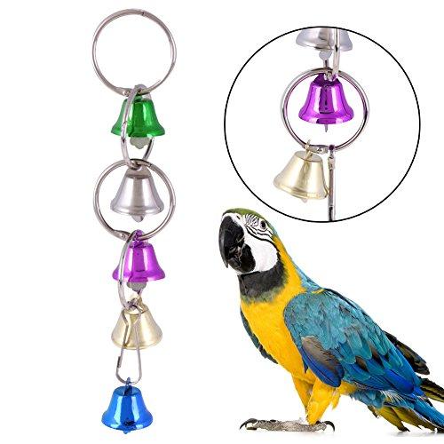 Metal Bird Swing Toys Hanging Bell Rainbow Bridge Ladder Cage Bite Chew Toy For Parrot Squirrel Parket Birds Bird Accessories (Hanging Bell (Orbit Block Accessories)