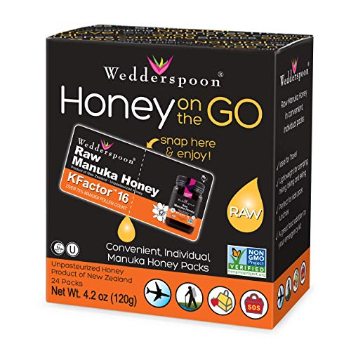 Wedderspoon 100% Raw Manuka Honey KFactor, 24 Count ()