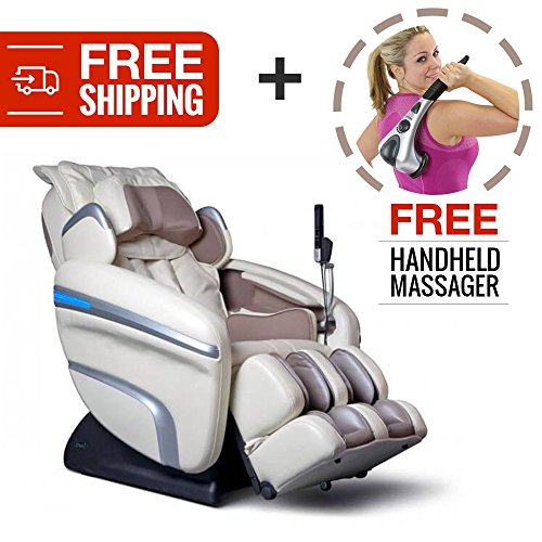 Zero Gravity Shiatsu Reclining Massage Chair. Osaki 7200-H with Computer Body Scan, 6 Massage Types, 5 Pressure Settings and 5 Depth Setting for Fully Customized Pain Relief and Relaxation (Cream)