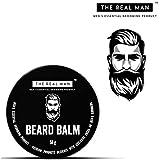 The Real Man Beard Balm 100 Percent Organic Beard Balm and Conditioner, 50g