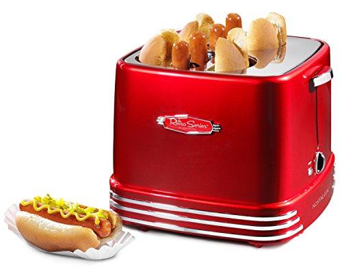 Nostalgia RHDT800RETRORED Pop-Up Hot Dog Toaster - smallkitchenideas.us