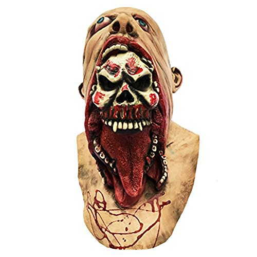 Halloween Novelty Mask Molezu Costume Party Cosplay Martian Scary Latex (Really Scary Horror Halloween Costumes)