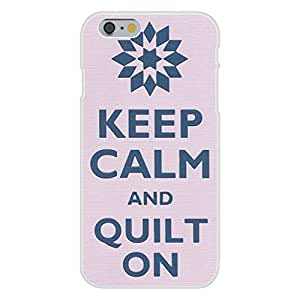 Apple iphone 5 5s Custom Case White Plastic Snap On - Keep Calm and Quilt On Star Design