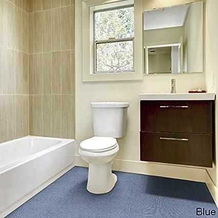 madison industries inc olefin wall to wall plush bathroom carpet 5x6 blue