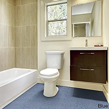 Madison Industries Inc. Olefin Wall To Wall Plush Bathroom Carpet (5x6) Blue