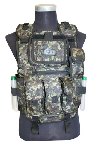 Gen-X Global Tactical Vest (Digi Green) G-26 Gen X Tactical Paintball Vest