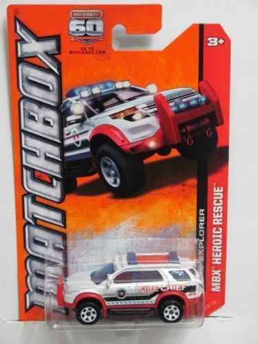 Ford Model Fire Chief - 2013 Matchbox - MBX Heroic Rescue - Ford Explorer Fire Chief (72 of 120)