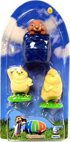 Hop Movie Mini Figurine 3Pack Calos the Angry Chick, Baby Chick E.B. Bunny