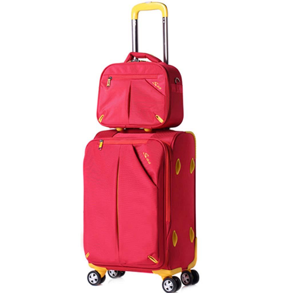 トロリーバッグ、ハンドバッグ、パスワードボックス、荷物袋、アイテム収納袋、ショルダーバッグ - 防水、日焼け止め - 搭乗、ファッションデザイン (色 : Red, サイズ さいず : 86L) B07MXXB45F