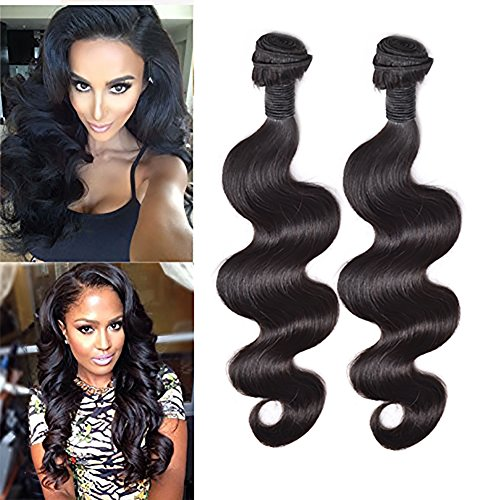 7A Brazilian Virgin Human Hair Body Wave Hair Bundle 18 inch 100g On Sale Best Quality Hair Extensions Weft 100 Human Hair Weave GUARANTEED Natural Black #1B