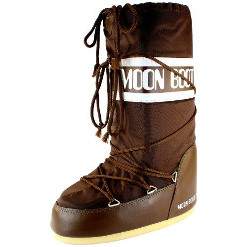 Mens Tecnica Moon Boot Nylon Impermeabile Metà Polpaccio Neve Invernale Pioggia Boot Marrone