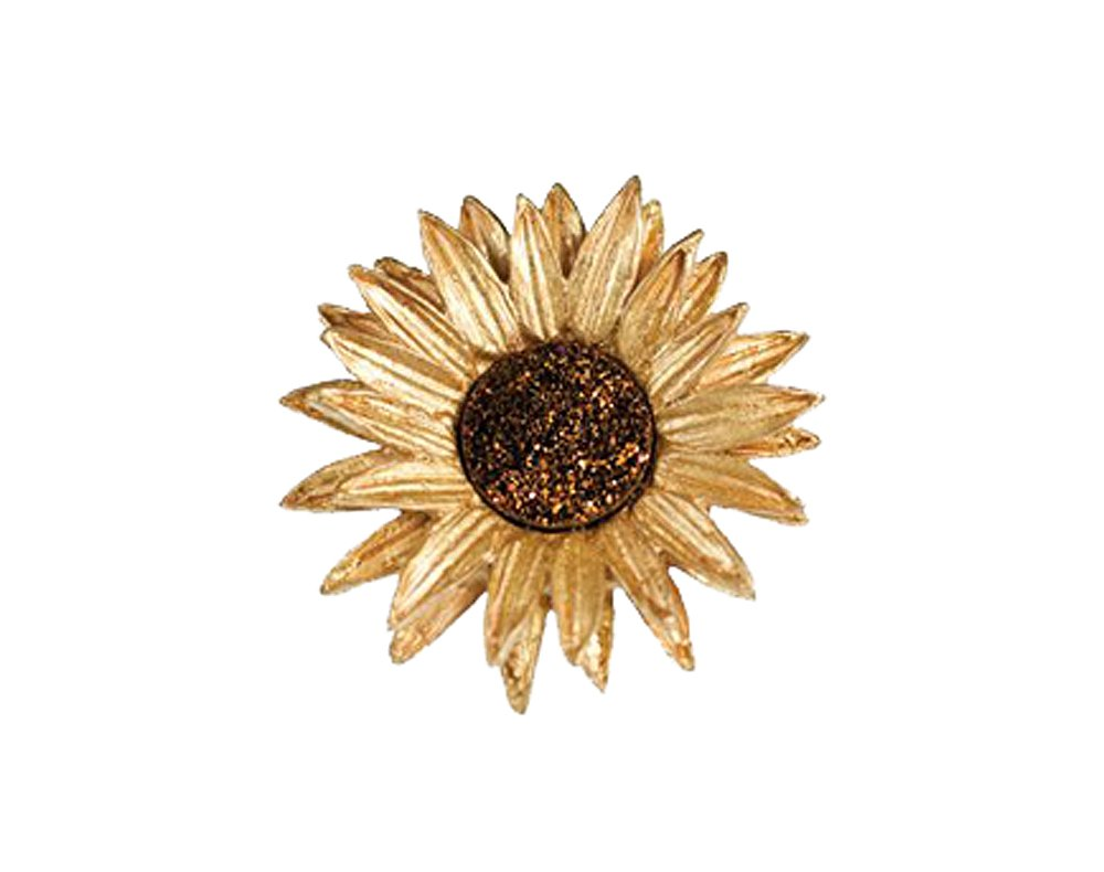 ''Sunflower'' Druzy Pin/Brooch by Michael Michaud for Silver Seasons…