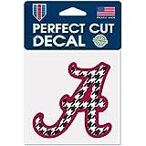 "Alabama Crimson Tide ""Houndstooth"" Official NCAA 4 inch x 4 inch Die Cut Car Decal"