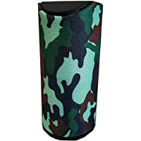 Bluetooth Speaker Portable Tg-113 Wireless Speaker   with Mic  with USB Port  Extra Bass Speaker  Assorted Color  Supported by Aux Cable, Pendrive (Army)