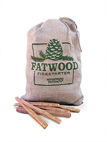 Read About Better Wood Products Fatwood Firestarter Burlap Bag, 10-Pounds
