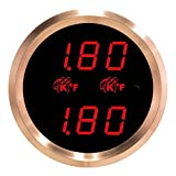 VEI Systems Dual-Display gauge: Dual 1800 deg-F digital EGT/pyrometer/exhaust-gas temperature gauge (red/silver)