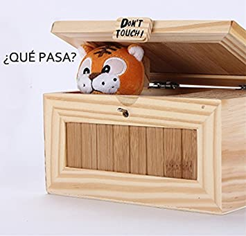 Icase4u Inutil Caja Don T Touch Cartoon Tiger Useless Box Creativo
