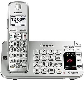 dae82841c12 Panasonic kx-tge470s link2cell Bluetooth teléfono con contestador automático  plata/blanco (Certificado Reformado