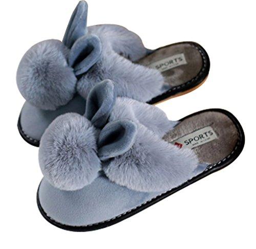 Pantofole Da Donna Cattior Caldo Casa Coperta Pantofole Da Donna Grigio