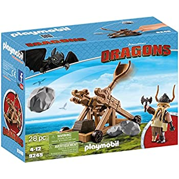 Amazon playmobil berk playmobil toys games playmobil how to train your dragon gobber with catapult ccuart Images