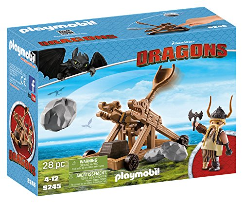 Playmobil Train (PLAYMOBIL How to Train Your Dragon Gobber with Catapult)