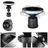 XINLON Magnetic Wireless Car Charger,Wireless Charging for Samsung S8 S8+ S8 Plus S7 S7 Edge Note 7 Note 8、iPhone Xs/XS MAX/XR/X/8/8 Plus and All QI-Enabled Devices(No Car Charger)