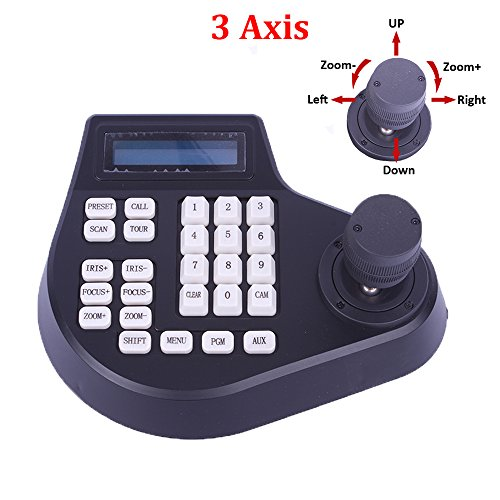 3 Axis Pan Tilt Zoom PTZ Controller Joystick LCD Display CCTV Dome Camera 3D Keyboard Controller