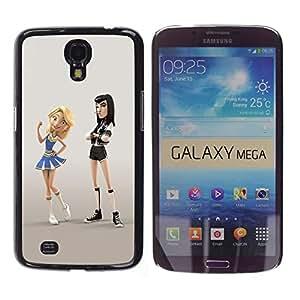 FlareStar Colour Printing Cheerleader Punk Fight Cartoon Character cáscara Funda Case Caso de plástico para Samsung Galaxy Mega 6.3 / i9200 / SGH-i527