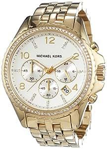 Michael Kors MK5347 - Reloj para mujeres, correa de acero inoxidable chapado color dorado