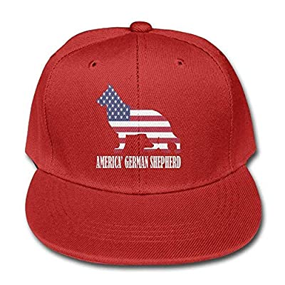 Thevictory American Flag German Shepherd Dog Unisex Baseball Hat Solid Color Cap