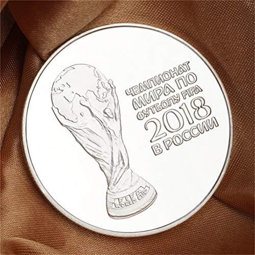 Silver Russian 2018 Football Commemorative Coin Football Collection Coins HU