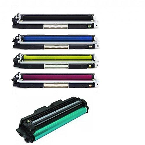 Kit Toners Compativel Ce310 Ce311 Ce312 Ce313 + 1 Foto Condutor Ce314 Cp1025 M175