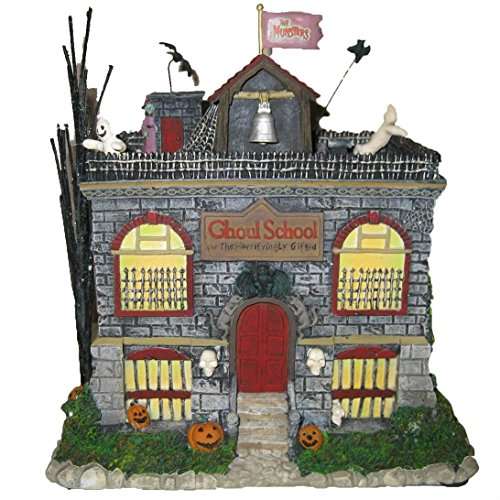 Hawthorne Village Universal Studios Munsters Collection Eddie's Schoolhouse Collectible Halloween House Display