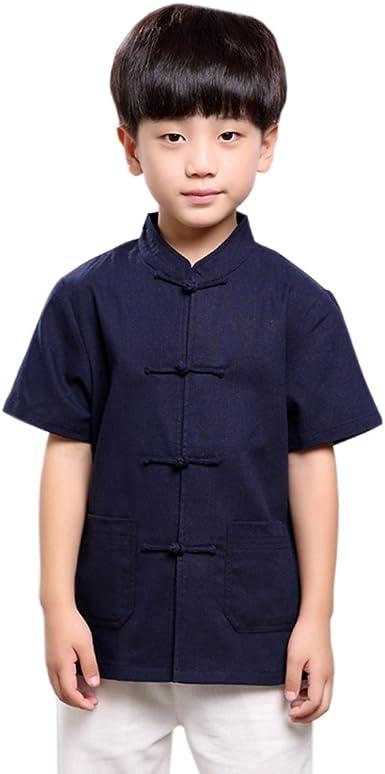 ACVIP - Camisa - para niño azul azul marino: Amazon.es: Ropa y accesorios