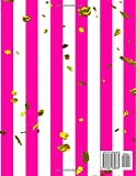 D: 110 Page (8.5 x 11 inch) Monogram Initial Notebook Letter A with Hot Pink & White Stripes and Gold Flakes Pattern - Personalized Diary Composition ... Striped Monogram Journals for Her) (Volume 4)
