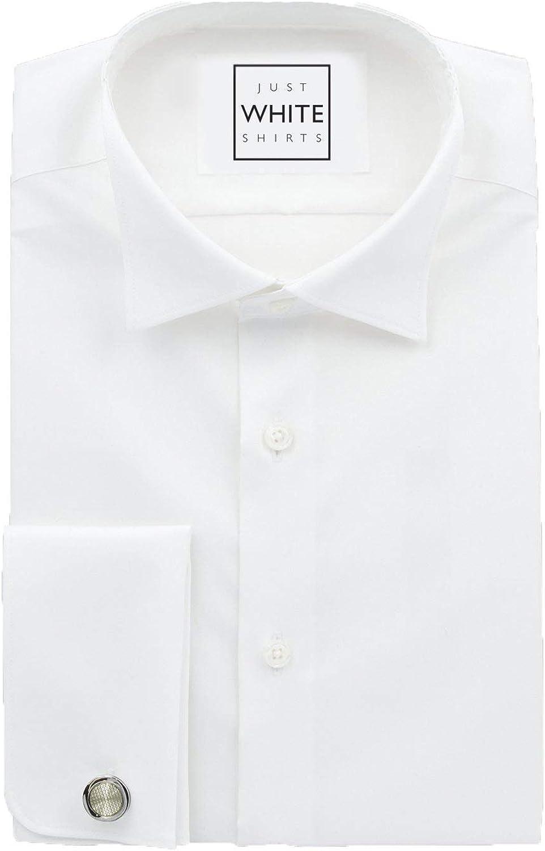 Court Shirt with French Cuff JustWhiteShirts Mens Ultimate White Shirt