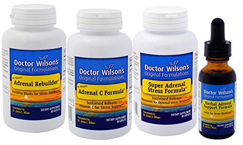 Dr. Wilson's Adrenal Fatigue Quartet (90 Count with HASF 1oz) by Doctor Wilson's Original Formulations